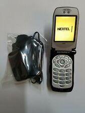 New Motorola i 920 IDEN Nextel Direct Connect Corporate Flip Cellphone 920 Phone
