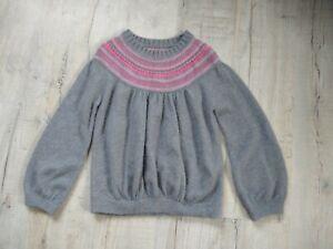 Girls Junior Jigsaw Jumper Size 12-13 Years Angora ,Lambswool Soft Grey Pink...
