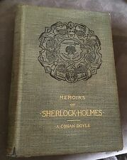 Memoirs of Sherlock Holmes-Conan Doyle- First American edition,1st State-1894