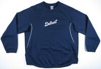 Detroit Tigers Blue Majestic Authentic Therma Base MLB Baseball Pullover XL