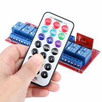 Dual Trigger 12V Infrared Remote Control 8-Channel Relay Module Bidirectional