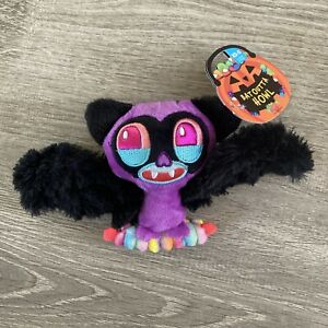 BarkBox Dog Toy BAT OUTTA HOWL Plush Vampire Bat Spiky Ball XS - S under 20 lbs