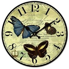 Shabby Chic Butterfly and Script Wall Clock - BNIB