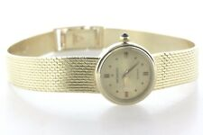 Vintage Movado 14K Solid Yellow Gold Quartz Mesh Bracelet Ladies Watch - 7""