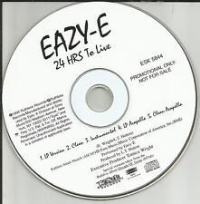 N.W.A. EAZY E 24 HRS to Live 5TRX CLEAN & INSTRUMENTAL & ACAPELA PROMO CD single