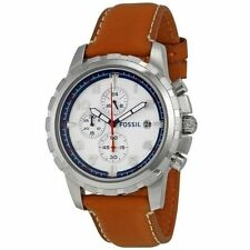 Fossil Men's Dean Chronograph Leather Watch – Dark Brown FS5069