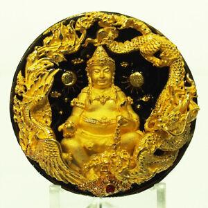 Thai Amulet CAI SHEN YE Coin Phra Tanabodi V.SeteeTalordChad Samrit Black 財神爺