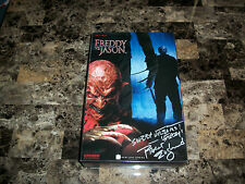 "Freddy Krueger Signed Sideshow Action Figure Freddy vs Jason 12"" Robert Englund"
