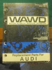 WAWD Western Automotive Warehouse Distributors Parts Catalog for Audi 1993