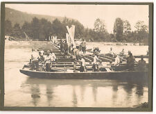 3 occupational/ military / engineers /WW1?cabinet photos building pontoon bridge