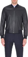 NWT Paul Smith Mainline Black Horse Leather Bomber Jacket Made In Italy Sz M