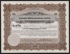 1934 Ontario. Canada: Avocalon Mining Syndicate Limited