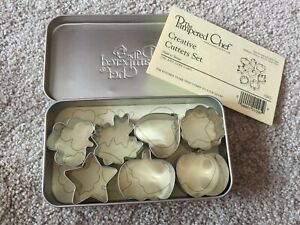 NIB The Pampered Chef Metal Creative Cutters Set ~ Mini Cookie Cutters