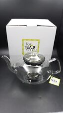 Tea's For Sake Glass Tea Pot 33 Ounce with Stainless Steel Infuser