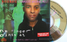 DAVID BOWIE CD Strangers When We Meet UK PROMO Only 1 Trk w/ Morrissey Tour Info
