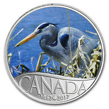 2017 Canada 1/2 oz Ag $10 Celebrating Canada's 150th: Blue Heron - SKU #104651