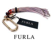 NWT Furla Tassel Leather Lavender Light Purple Women Bag Charm Keychain