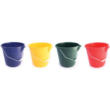 More details for 10ltr plastic bucket colour coded round cleaning washing industrial trade feed