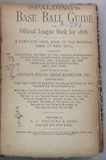 1888 Spalding's Official Baseball Guide