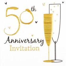 Invitaciones de fiesta color principal oro