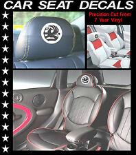 VAUXHALL BADGE CAR SEAT DECALS / HEAD REST VINYL STICKERS/ GRAPHICS SET X 5 L@@k
