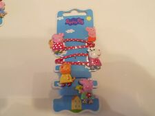 Brand new Peppa Pig Girls 4 Hair Clips & bobbles  inc peppa,sheep,cat