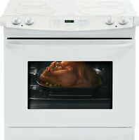 "Frigidaire FFED3025PW 30"" Drop-In Electric Range - White with White Top"