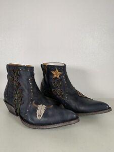 Women's Old Gringo Boots Blue Joplin Embroidery Size 7.5 BL3087-3