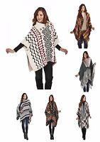 Womens Autumn Winter Poncho Wrap Cape Shawl Blanket Cardigan Stole Gilet