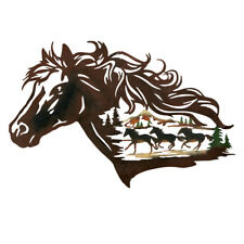 Metal Western Horse Shadow Wall Art, Brown, by Collections Etc