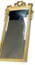 Carolina Mirror Co Company Vintage Gold Gilt Carved Rectangle Decorators MCM