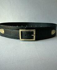 Free People Extra Distressed Leather Treme Belt Black Small/ Medium Boho $68