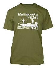 What Happens On The Boat, Stays On The Boat Men's T-shirt