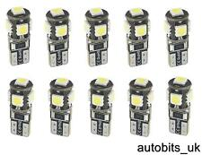 10X T10 501 194 W5W CANBUS SIDELIGHTS PARKING WHITE CAR SIDE LED LIGHT 5 SMD