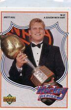 BRETT HULL 1991-92 Upper Deck Hockey Heroes #86 St. Louis Blues