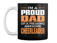 Proud Dad Cheerleader - I'm A Of Freaking Awesome Gift Coffee Mug