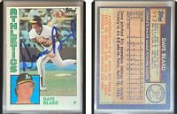 Dave Beard Signed 1984 Topps #513 Card Oakland Athletics Auto Autograph