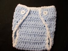 Handmade Crochet Baby Diaper Cover Newborn 3 Months by Rocky Mountain Marty