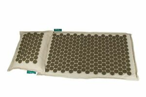 Premium Pro 11 Eco, Natural, holistic acupressure mat and pillow with carry bag
