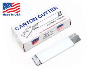 12 Carton Cutter Made in USA Compact Utility Retractable - Scraper U.S.A.