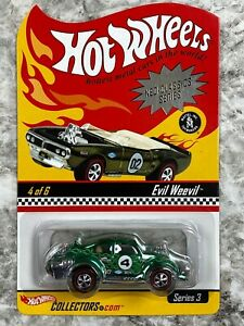 Hot Wheels Redline RLC Evil Weevil Green Ghost Flames Adult Collectors Toy Car