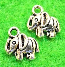 150Pcs. WHOLESALE Tibetan Silver Small ELEPHANT Charms Pendants Ear Drops Q1182