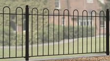 Hoop Top Fence Panel 1830mm Gap X 950mm High Iron Metal RAILING Fencing CRZP01