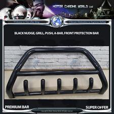 FITS VAUXHALL MOVANO BLACK BULL BAR AXLE NUDGE PUSH GRILL A-BAR 60mm 1997-2010