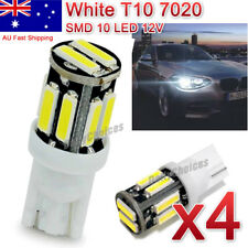 4X 12V COOL WHITE T10 W5W WEDGE 7020 LED TAIL SIDE CAR LIGHTS TURN PARK BULB CW