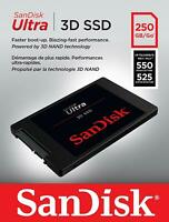 """SanDisk Ultra 3D NAND 250GB Internal SSD SATA III 6 Gb/s 2.5""""/7mm SDSSDH3-250G"""