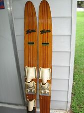 Thompson Vintage Water Skis Pro Comb Model Cm691, Cherry & Ash Wood, 69""