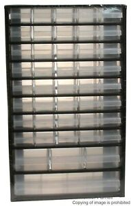 44 Compartment Steel Frame Cabinet Organiser - 510mm x 306mm x 147mm