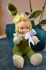 Green Bunny Cuddle Kewpie, Tag Torn Off, 16� To Top Of Ears, 13� Seated