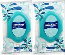 Always Feminine Wipes Fresh & Clean 32ct ( 2 pack ) FRESH PHARMACY STOCK!